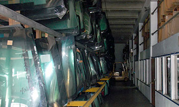 Our large inventory of new & used auto glass