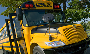 Glass for school buses